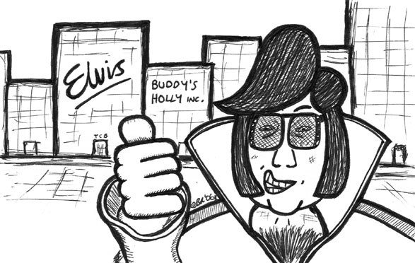 'Elvis Has The Left Building' (c) Ben Rowe 2006