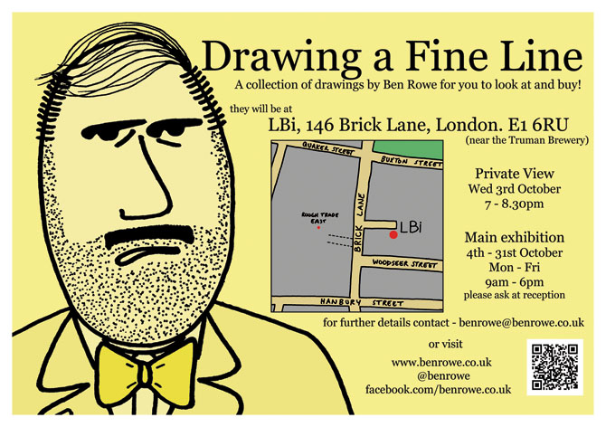 'Drawing a Fine Line' - exhibition 4th - 31st October 2012 @ LBi London