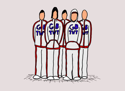 'Great Britain Tracksuit Wearing Team' © Ben Rowe 2008