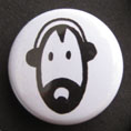 'Peel DJ head' badge © Ben Rowe 2010