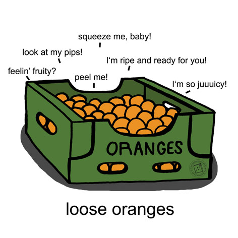 'Loose Oranges' © Ben Rowe 2014