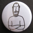 'John Peel pose' badge © Ben Rowe 2010