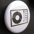'John Peel's record player' badge © Ben Rowe 2010